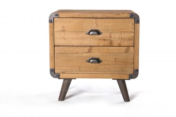 Kommode 'Oldham', mit 2 Schubladen, braun, L 36 cm, B 54 cm, H 55 cm