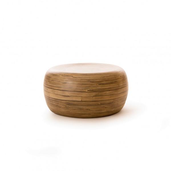 Beistelltisch aus Bambus, natur, Ø 60 cm, H 30 cm