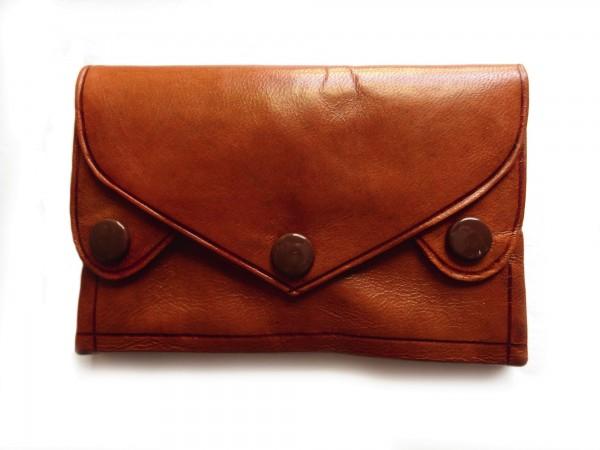 Portemonnaie, braun, T 7 cm, B 10 cm