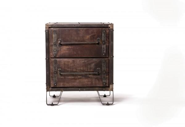 Kommode 'Derben', braun, schwarz, T 46 cm, B 51 cm, H 62 cm