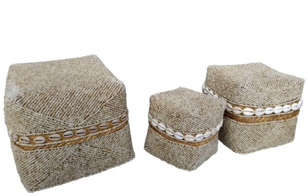 Opfergabekorb, braun, T 20 cm, B 20 cm, H 17 cm