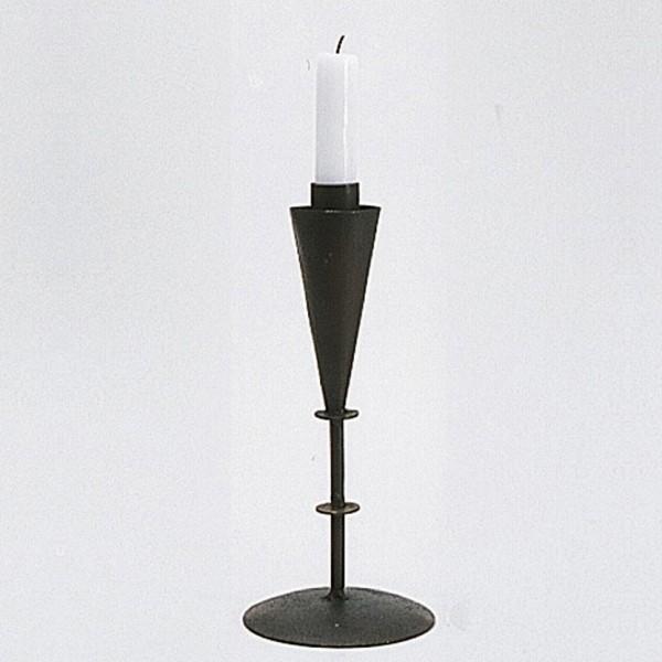 Kerzenhalter, antik-rost, H 28 cm, Ø 10 cm