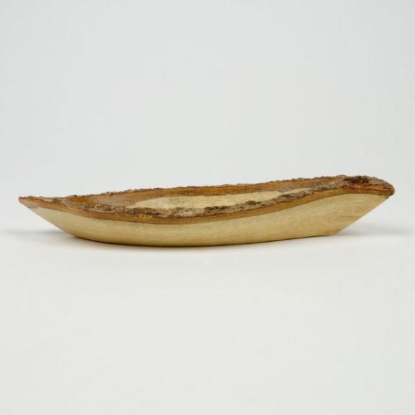 Schale in Blattform, natur, T 9 cm, B 26 cm, H 4 cm
