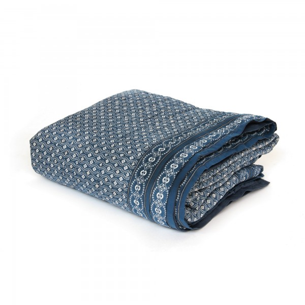 Quilt 'Mogagne', blaugrau, T 220 cm, B 270 cm