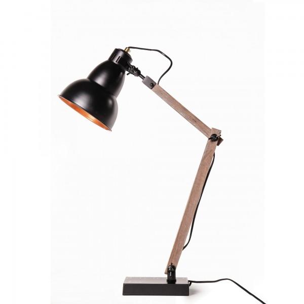 """Tischlampe """"Büro"""", braun/geweißt/schwarz, L 18 cm, H 75 cm"""