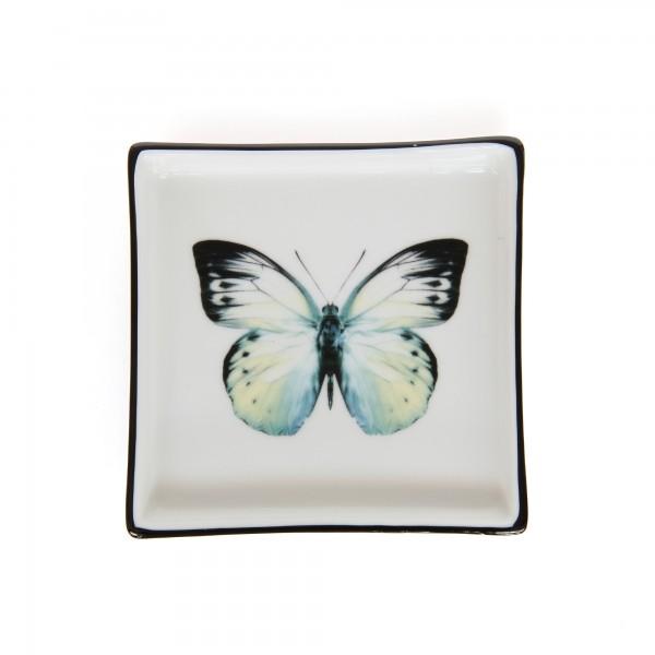 Ablage 'Papillon', multicolor, T 11,5 cm, B 11,5 cm, H 2,2 cm