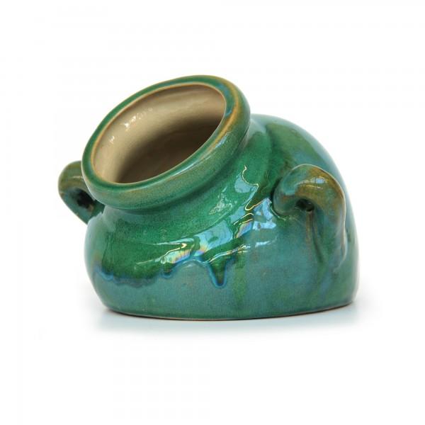 """Pflanzgefäß """"Vjens"""", aus Keramik, grün, L 30 cm, B 26 cm, H 20 cm"""