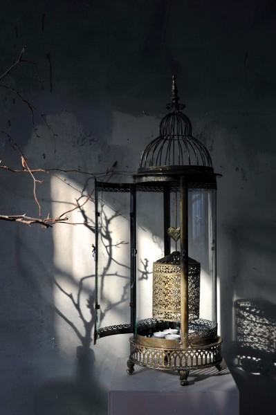 Tee-Licht-Karussell 'Rempton', kupfer, Ø 25 cm, H 78 cm