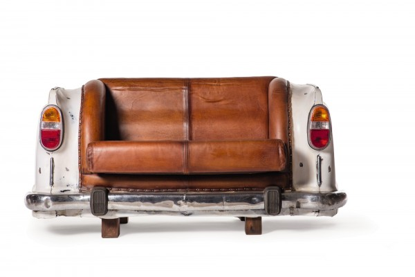 Sofa 'Ambassador Classic', Heck, 2-Sitzer, weiß, L 70 cm, B 163 cm, H 78 cm