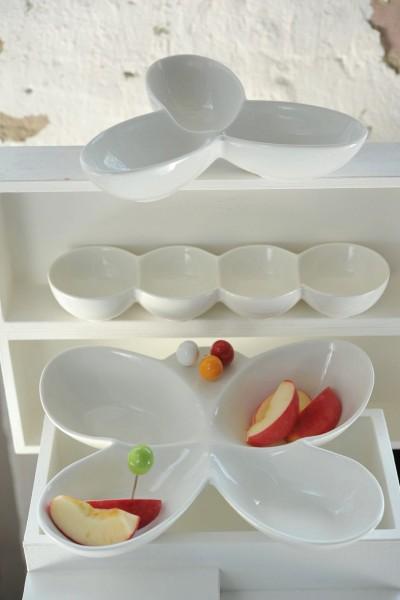 """Viererschale """"Pea"""", weiß, L 30 cm, B 8 cm, H 4 cm"""