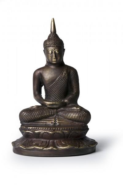 Buddha 'Lotussitz', aus Bronze, Ø 10 cm, H 19 cm