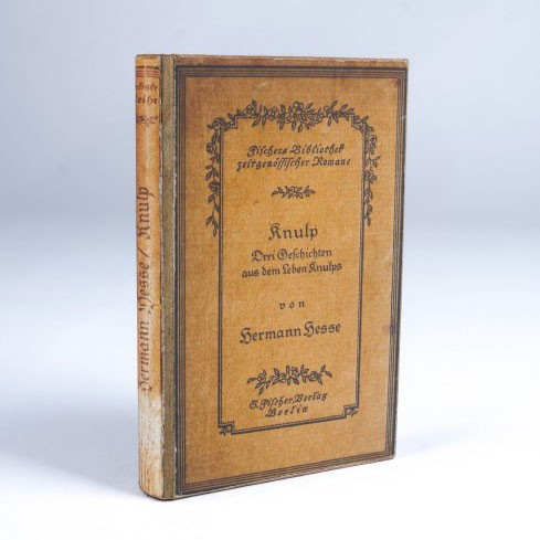 """Buch-Tresor """"Knulp von Hermann Hesse"""", L 3 cm, B 14 cm, H 21 cm"""