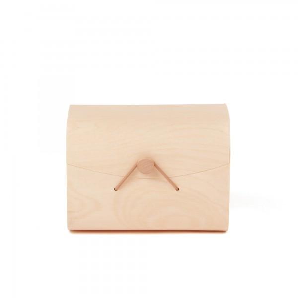 Box 'Pando', mit Knopfverschluß, L 12 cm, B 16 cm, H 12 cm