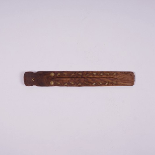 Räucherstäbchenhalter aus Rajasthan, braun, L 26 cm, B 3,5 cm