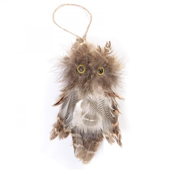 Waldohreule, aus echten Federn, B 8 cm, H 14 cm