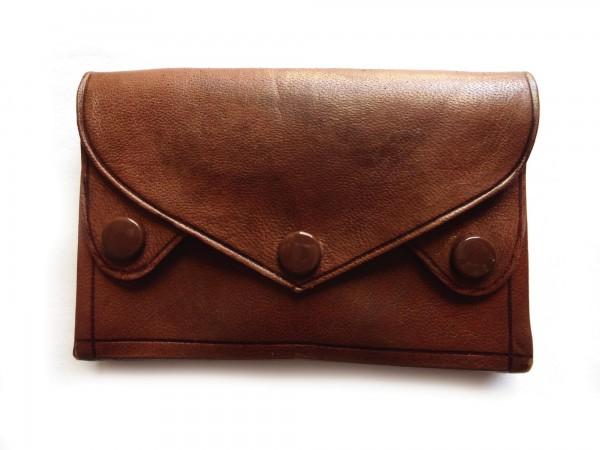 Portemonnaie, dunkelbraun, T 7 cm, B 10 cm