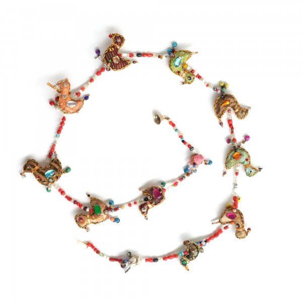 10er Girlande 'Birdy-Chain' hängend, multicolor, T 120 cm, B 6 cm, H 5 cm