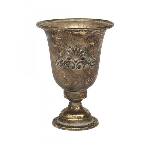 Pokal 'Dizienne', messing-antik, T 24 cm, B 24 cm, H 32 cm