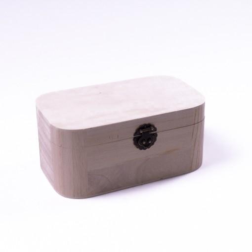 "Holztruhe ""Baihu antique"" mit Deckel, natur, L 14,5 cm, B 25 cm, H 11 cm"