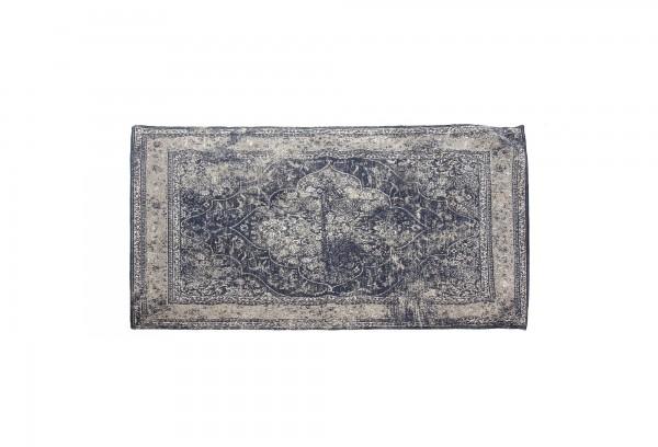 Teppich 'Amir', dunkelblau, schwarz, cremeweiß, T 170 cm, B 240 cm