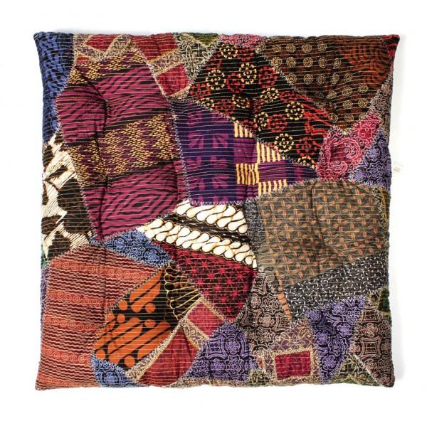 gesteppte Sitzkissen, multicolor, L 60 cm, B 60 cm, H 7 cm