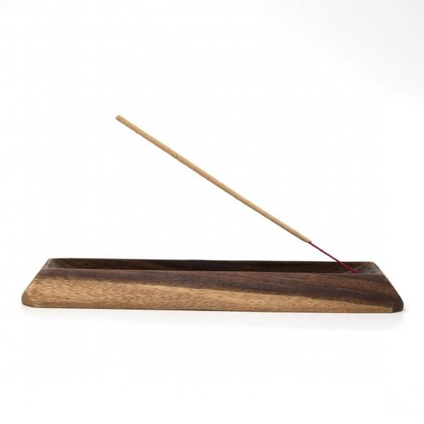 Räucherstäbchenhalter, dunkelbraun, L 26 cm, B 7,5 cm, H 2,5 cm