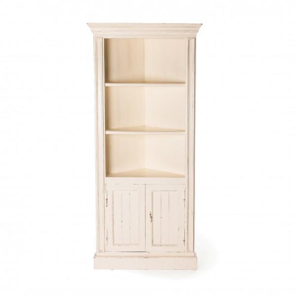 Eckregal, weiß, H 183 cm, B 82 cm, T 60 cm