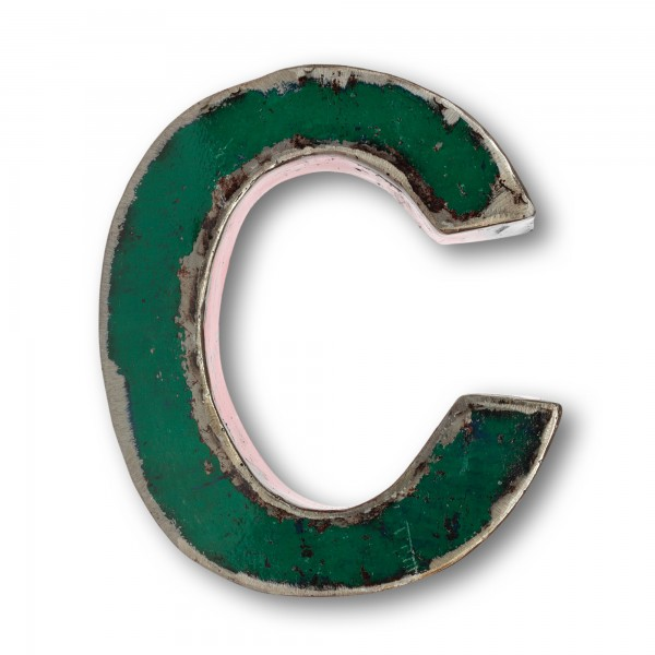Metallbuchstabe 'C', multicolor, T 17 cm, B 20 cm, H 4 cm