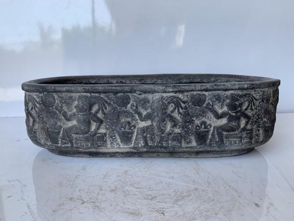 Pflanzschale 'Median', dunkelbraun, T 33 cm, B 71 cm, H 20 cm