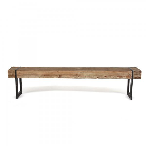 Sitzbank 'Wesley', natur, schwarz, T 30 cm, B 200 cm, H 45 cm
