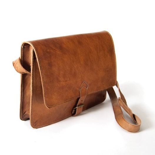 Messengertasche, braun, B 35 cm innen, H 27 cm, L 8 cm