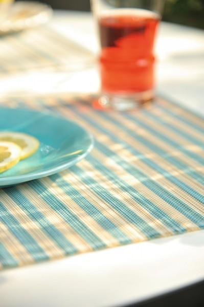 Tischset aus Bambus, blau, beige, L 33 cm, B 48 cm