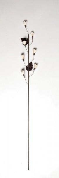 Rosenknospen, braun, weiß, rosé, H 85 cm