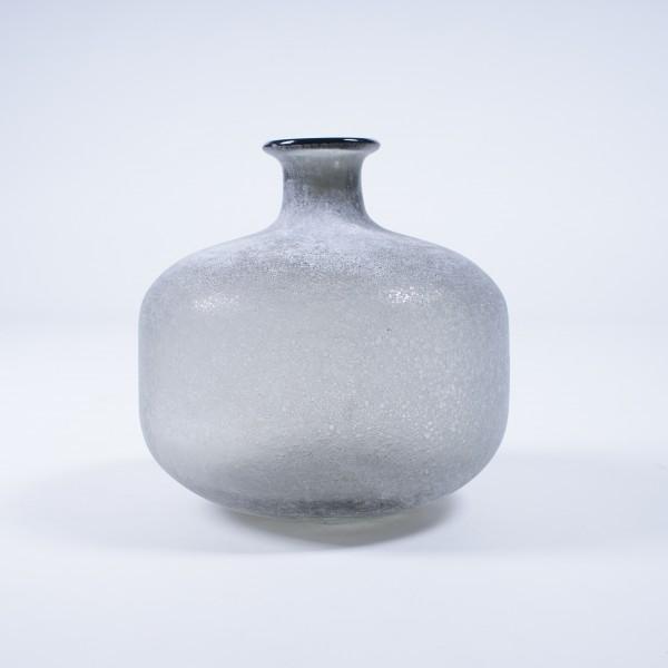 "Vase ""Guiliere"", gefrostet, grau, Ø 22 cm, H 21 cm"