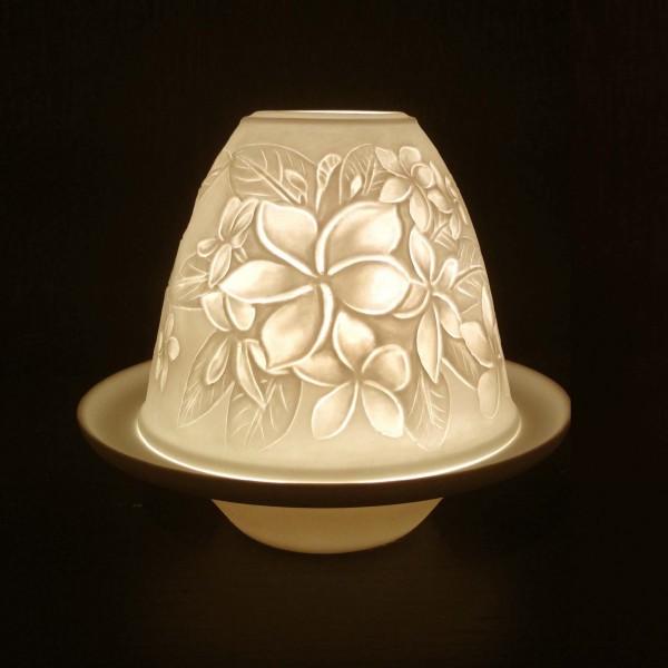 """Windlicht """"Lilie"""" aus Porzellan, Ø 10 cm, H 9 cm"""