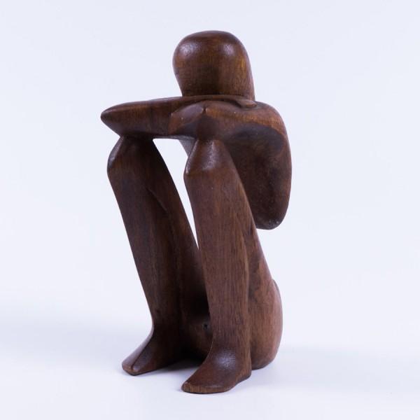 """Abstrakt """"Gesicht verdeckend"""", natur, H 16 cm"""