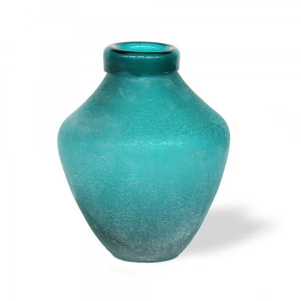 Glasflasche 'Limar', blau, Ø 14 cm, H 18 cm