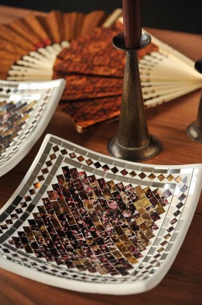 Mosaikteller 'Tanned', verschiedene Größen