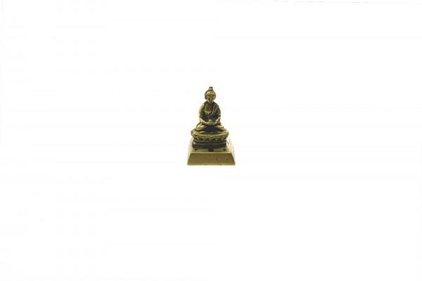 Räucherstäbchenhalter 'Buddha', gold, schwarz, T 3,5 cm, B 5 cm, H 8,5 cm