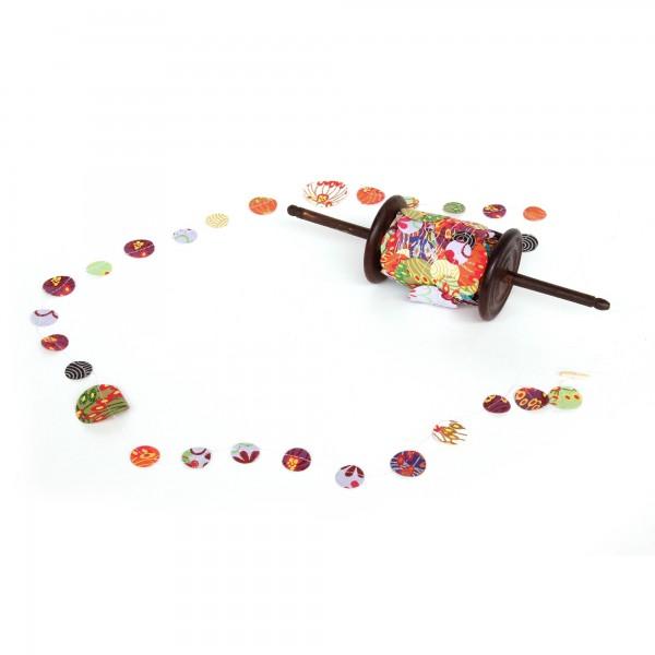 Party-Papiergirlande 'Kreise', multicolor, L 2500 cm