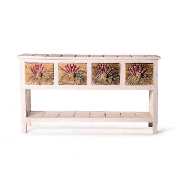 """Anrichte """"Seelilie"""", weiß/braun, L 30 cm, B 89 cm, H 50 cm"""