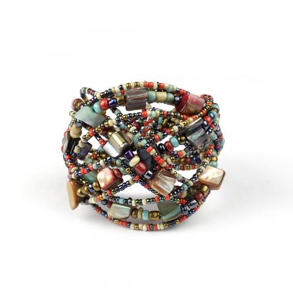 Armband 'Grounded', natur, Ø 9 cm, H 9 cm