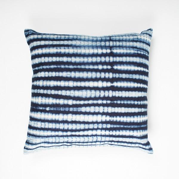 "Kissenhülle ""Wellen"", blau/weiß, L 45 cm, B 45 cm"