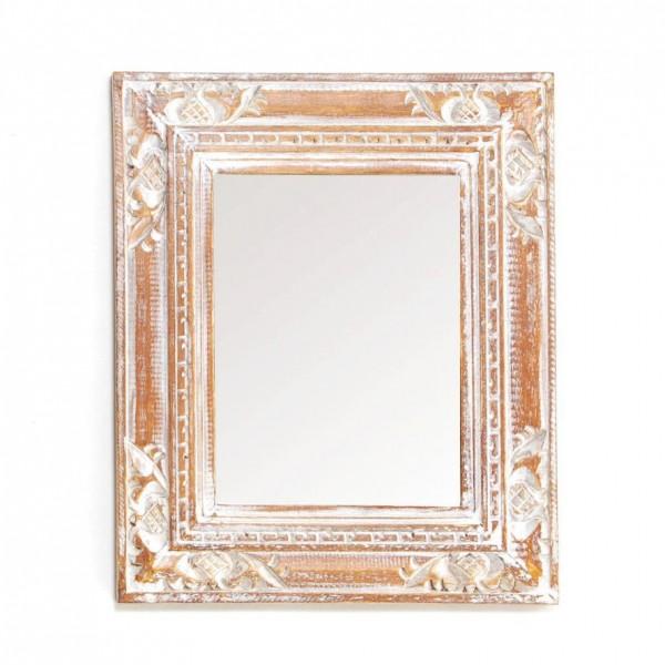Spiegel rechteckig, antik-weiß, L 26,5 cm, B 32 cm