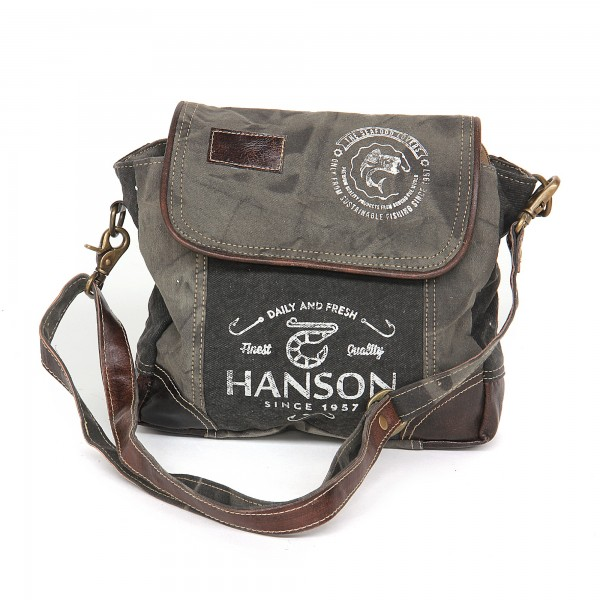 Umhängetasche 'Hanson', khaki, T 9cm, B 28cm, H 24cm
