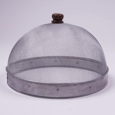 Abdeckhaube aus Metall, grau, Ø 27 cm