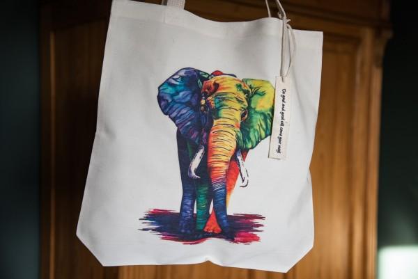 Stoffbeutel 'Elefant', multicolor, L 40 cm, B 9 cm, H 40 cm