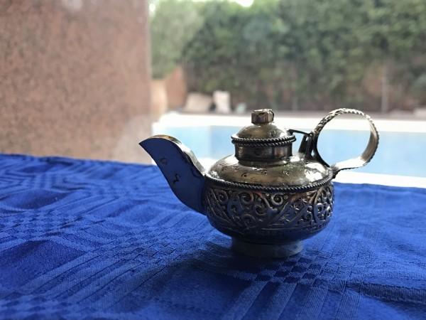 Pillendose/Schmuckdose 'Tea', handgefertigt, silber, Ø 5 cm, H 8 cm