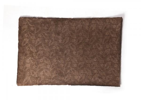 "Geschenkpapier ""Blumen braun"", handgeschöpft, L 51 cm, B 76 cm"