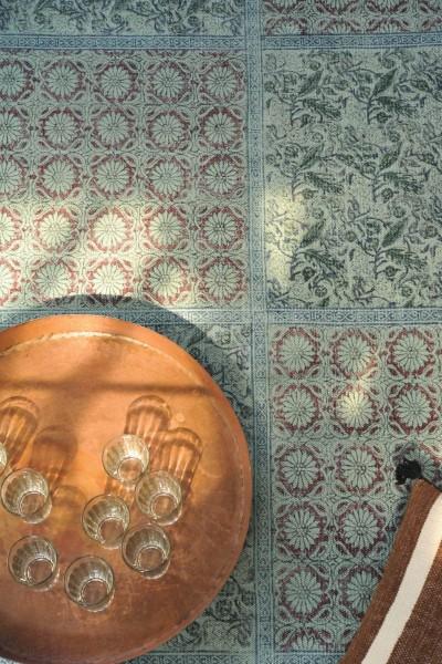 Teppich 'Sikkim', handbedruckt, L 200 cm, B 140 cm